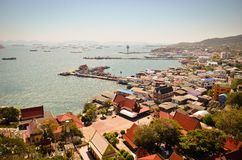 Panoramic view of Koh Sichang Stock Photos