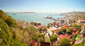 Panoramic view of Koh Sichang Royalty Free Stock Photography