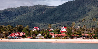 Panoramic view of Koh Tao island Royalty Free Stock Images