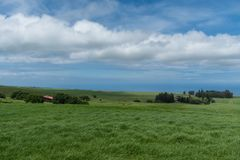 Panoramic view of the Kohala Coast on the Big Island of Hawaii taken from higher elevation Stock Images