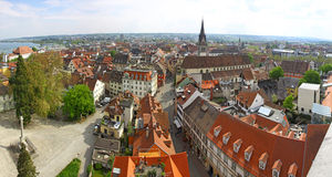 Panoramic view of Konstanz city (Germany) Royalty Free Stock Photography