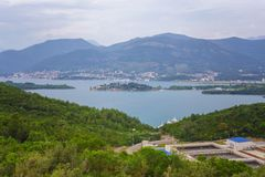 View on kotor bay montenegro stock images