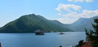 Panoramic View Kotor Fjord Montenegro Perast stock image