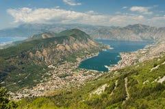 Panoramic view on Kotor, Montenegro Stock Photography