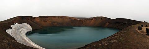 Panoramic view of Krafla Volcano on Iceland Royalty Free Stock Photos