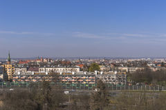 Panoramic view of Krakow Royalty Free Stock Photography