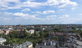 Panoramic view of Krakow Stock Photos