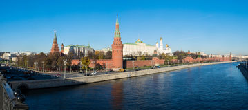 A panoramic view of Kremlin and Moskva river, Moscow, Russia Royalty Free Stock Photos