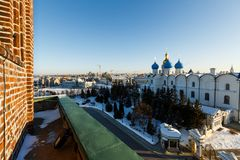 Panoramic view of the Kul-Sharif and the Annunciation Cathedral, Kazan Stock Photo