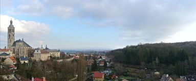 Panoramic view on Kutna Hora, Czech Republic Stock Images