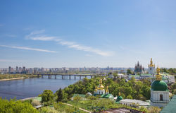 Panoramic view of Kyiv-Pechersk Lavra Royalty Free Stock Photography