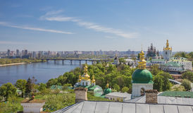 Panoramic view of Kyiv-Pechersk Lavra Stock Images