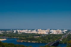 Panoramic view of Kyiv residential district Stock Images