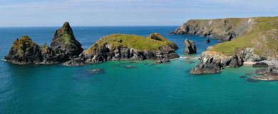 Panoramic view of Kynance cove Stock Photos