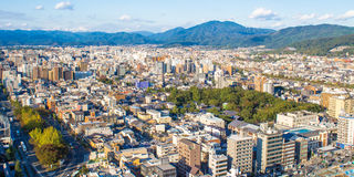 Panoramic view of Kyoto. Japan Royalty Free Stock Photography
