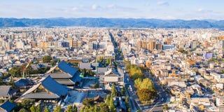 Panoramic view of Kyoto. Japan Stock Photos