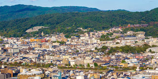 Panoramic view of Kyoto. Japan Royalty Free Stock Images