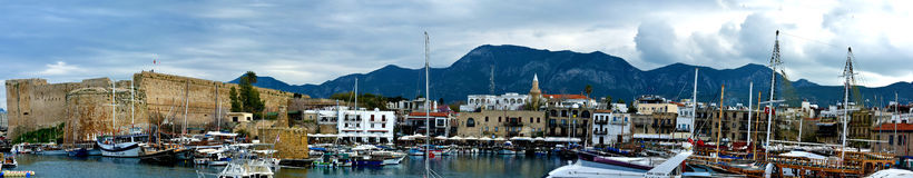 Panoramic view of Kyrenia Stock Image
