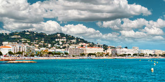 Panoramic view of the La Croisette. Royalty Free Stock Photography