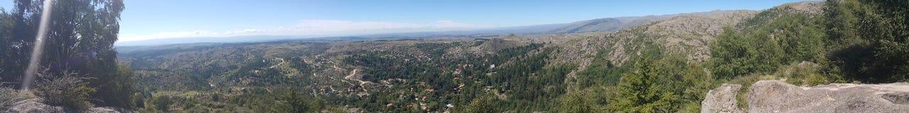 Panoramic view la cumbrecita. La cumbrecita córdoba Argentina royalty free stock images