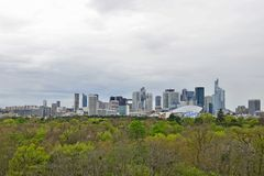 Panoramic view of la Defense outside of Paris Stock Image