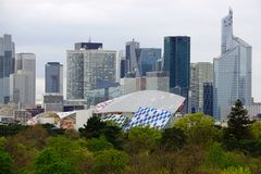 Panoramic view of la Defense outside of Paris Stock Photography