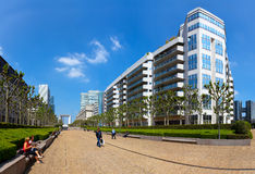 Panoramic view of La Defense in Paris Royalty Free Stock Images
