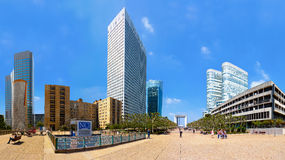 Panoramic view of La Defense in Paris Stock Photo