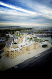 Panoramic view at La Goulette cruise terminal and city in Tunisia Royalty Free Stock Photo
