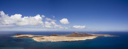 Panoramic view of La Graciosa, Canary Islands Royalty Free Stock Photo