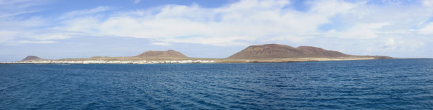 Panoramic view of La Graciosa Island Stock Photos