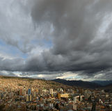 Panoramic view of La Paz royalty free stock photo