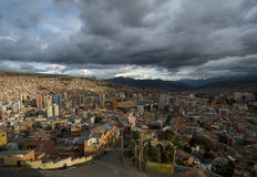 Panoramic view of La Paz Royalty Free Stock Images