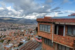 Panoramic view of La Paz, Bolivia royalty free stock photography