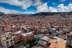 Panoramic view of La Paz, Bolivia royalty free stock images