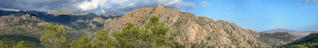 Panoramic view of La Pedriza Royalty Free Stock Photo