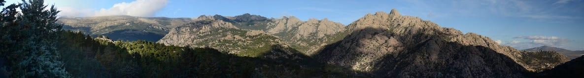 Panoramic view of La Pedriza Stock Photos