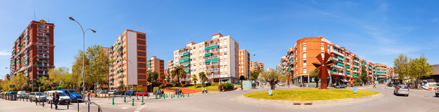 Panoramic view of La Salut district of Badalona. Barcelona Stock Image