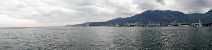 panoramic view of la spezia gulf Stock Images