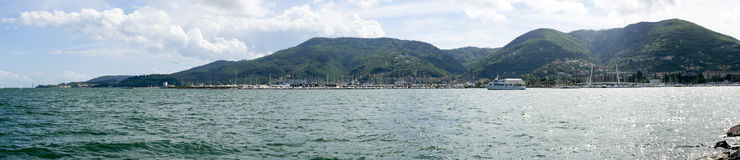 panoramic view of la spezia gulf Royalty Free Stock Photo