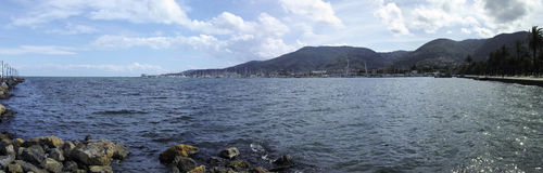 panoramic view of la spezia gulf Stock Photo