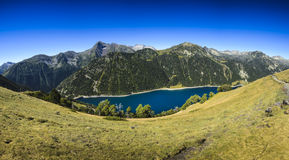 Panoramic view of Lac d'Oule at Saint Lary Soulan Royalty Free Stock Photos