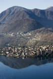 Panoramic view of lago d'orta Royalty Free Stock Photography
