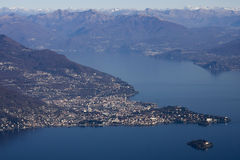 Panoramic view of lago maggiore Royalty Free Stock Images