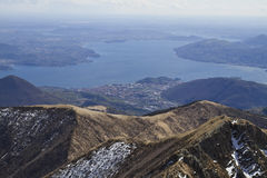 Panoramic view of lago maggiore Royalty Free Stock Photos
