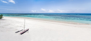 Panoramic view on the lagoon Royalty Free Stock Images
