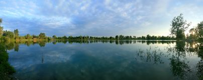 Panoramic view of a lake Royalty Free Stock Photo
