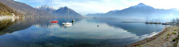 Panoramic view of lake Como Stock Images