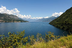 Panoramic view of Lake Como Stock Photo