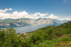 Panoramic view of Lake Garda, Italy Royalty Free Stock Photography